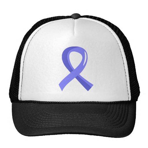 Prostate Cancer Light Blue Ribbon 3 Mesh Hat