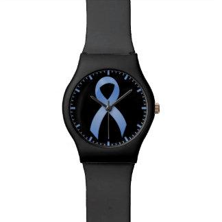 Prostate Cancer - Light Blue Ribbon Watch
