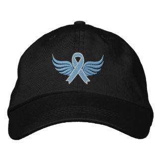 Prostate Cancer Ribbon Wings Embroidered Hats