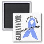 Prostate Cancer Survivor 1 Square Magnet