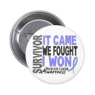Prostate Cancer Survivor It Came We Fought I Won 2 Inch Round Button