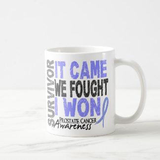 Prostate Cancer Survivor It Came We Fought I Won Classic White Coffee Mug