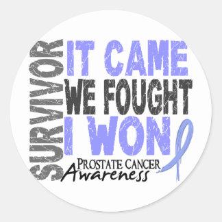 Prostate Cancer Survivor It Came We Fought I Won Round Sticker
