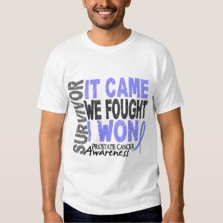 Prostate Cancer Survivor It Came We Fought I Won T Shirts