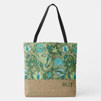 Protea Batik Hawaiian Tropical Monogram Beach Bag