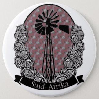 Protea en Windpomp 6 Inch Round Button