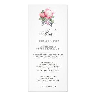 Protea Fantasy Floral Wedding Menu