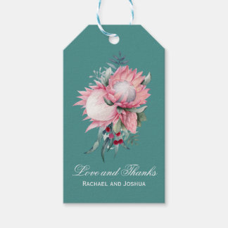 Protea Fantasy Floral Wedding Thank You Pack Of Gift Tags