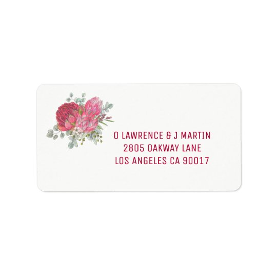 Protea Flower Address Labels