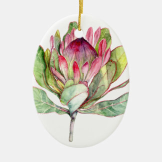 Protea Flower Ceramic Ornament