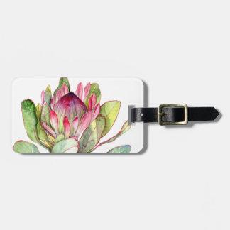 Protea Flower Luggage Tag