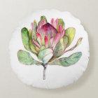 Protea Flower Round Pillow