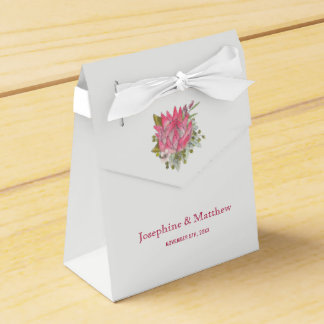 Protea Flower Wedding Favor Box