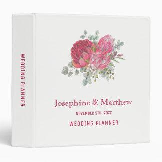 Protea Flowers Wedding Planner 3 Ring Binder