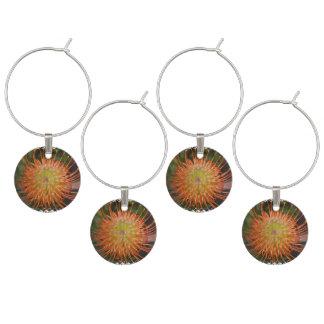 Protea Flowers Wine Glass Charm