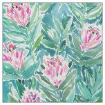 PROTEA PARADISE Tropical Floral Watercolor Fabric