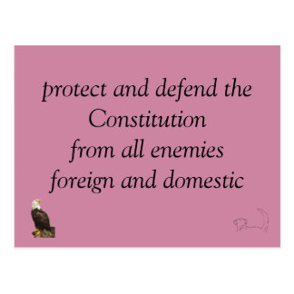 protect and defend postcard