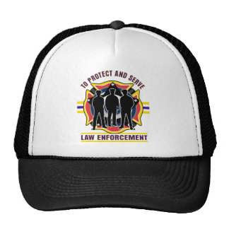 Protect and Serve Police Trucker Hat