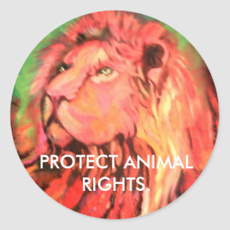 Protect animal rights sticker