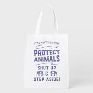 Protect Animals Grocery Bags