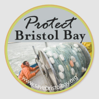 Protect Bristol Bay Round Sticker