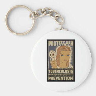 Protect her from tuberculosis basic round button keychain