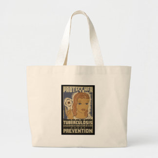 Protect her from tuberculosis tote bags