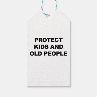 Protect Kids and Old People Pack Of Gift Tags