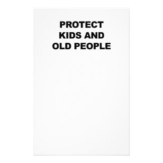 Protect Kids and Old People Stationery