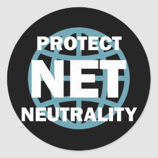Protect Net Neutrality Classic Round Sticker