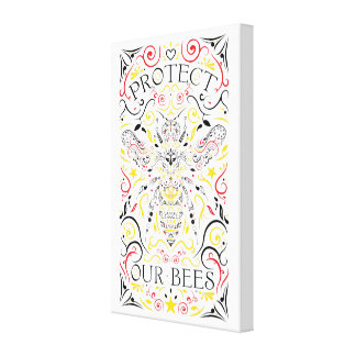 protect our bees canvas print