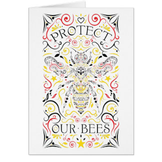 protect our bees card