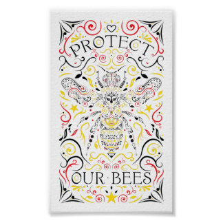protect our bees poster