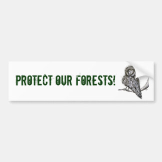 Protect Our Forests Bumper Sticker