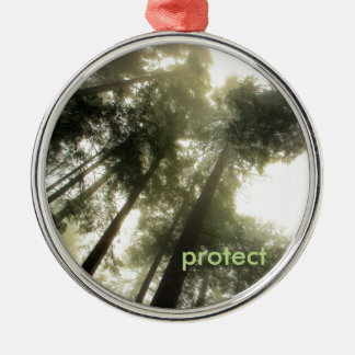 Protect Our Forests Silver-Colored Round Ornament