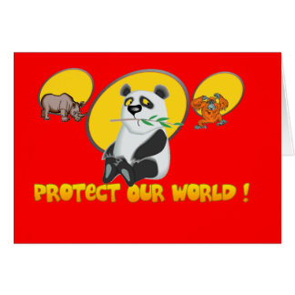 Protect Our World Card
