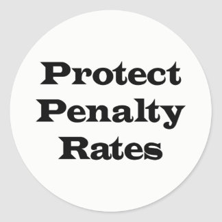 Protect Penalty Rates Classic Round Sticker