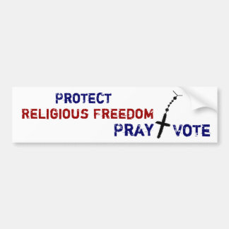 Protect Religious Freedom Pray+Vote Bumper Sticker