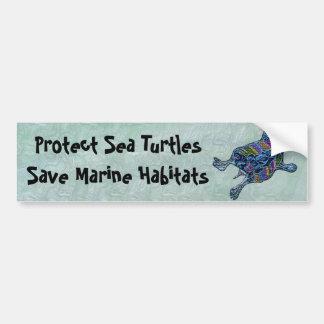 Protect Sea Turtle Habitats Bumper Stickers