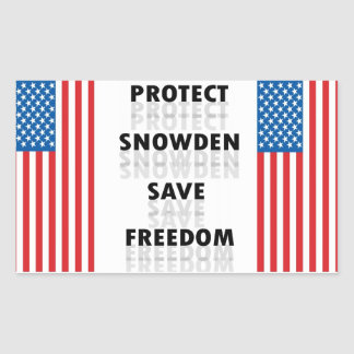 Protect Snowden Save Freedom - Decal Sticker
