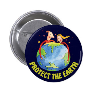 Protect The Earth 2 Inch Round Button