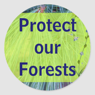 protect the forests stickers