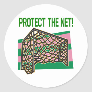 Protect The Net Round Sticker