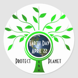 Protect the Planet Round Sticker