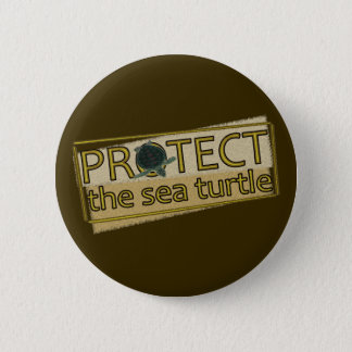 Protect the Sea Turtle 2 Inch Round Button