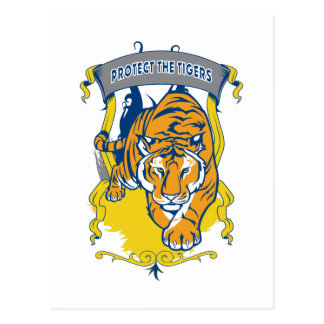 Protect the Tigers Postcard
