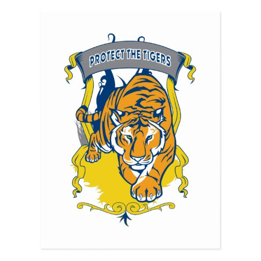 Protect the Tigers Post Cards