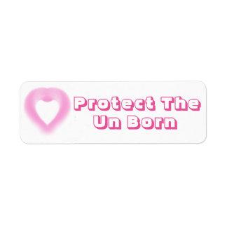 Protect The Un Born, Return Address Labels