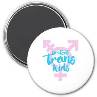 Protect Trans Kids - Trans Symbol - -  Magnet