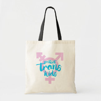 Protect Trans Kids - Trans Symbol - -  Tote Bag